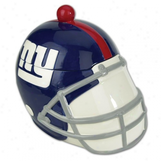New York Giants Ceramic Helmet Soup Tureen With Ladle