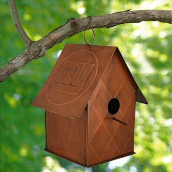 New York GiantsC opper Bird House