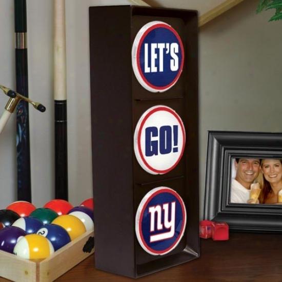 New York Giants Flashing Let's Go Light