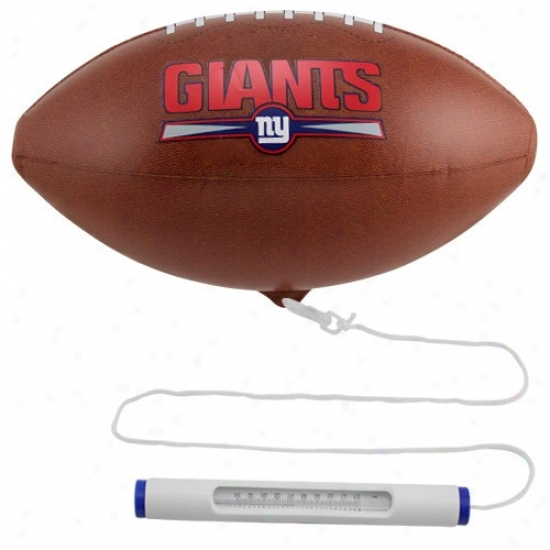 New York Giants Floating Football Pool Thermometer