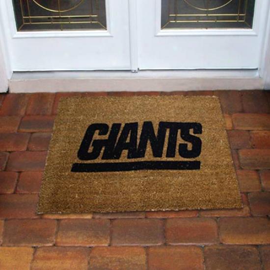 New York Giants Flocked Cour Door Mat
