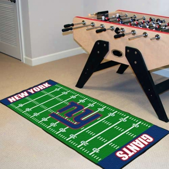 New York Giants Football Field Runner Mat