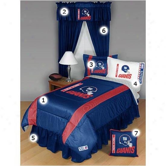 New York Giants Full Size Sideline Bedroom Set