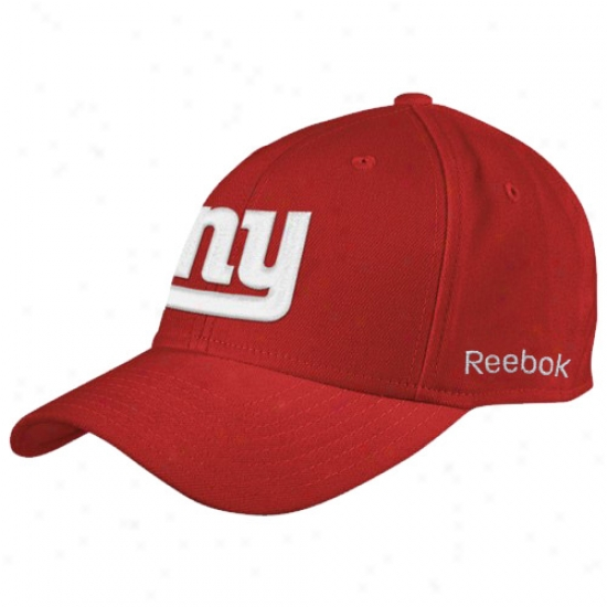 New York Giants Gear: Reebok New York Goants Red Coaches Flex Cardinal's office