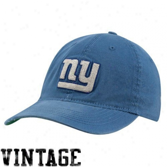 New York Giants Hat : Reebok New York Giants Royal Blue Distressed Slouch Flex Fit Hat