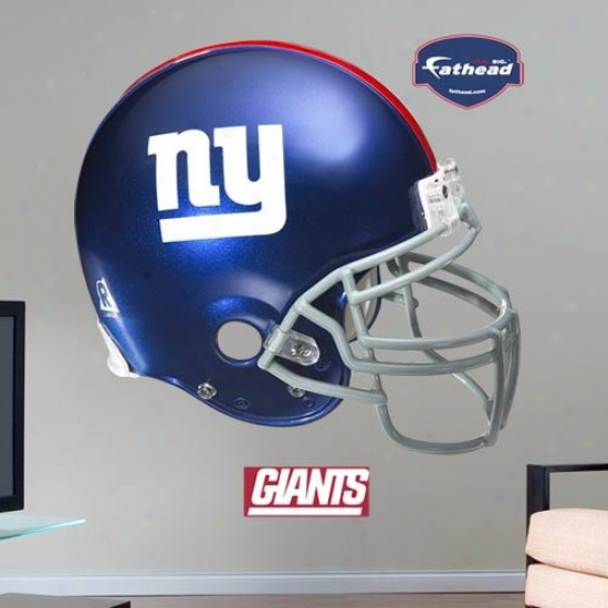 New York Giants Helmet Fathead Wall Sticker