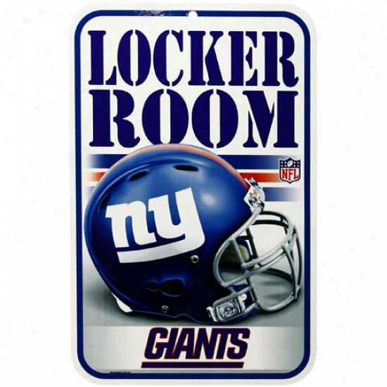 New York Giants Helmet Locker Room Sign