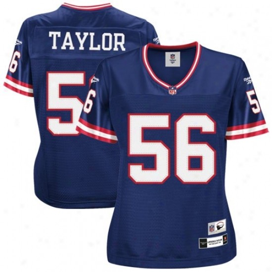 Repaired York Giants Jerseys : Reebok Nfl Equipment New York Giants #56 Lawrence Taylor Ladieq Premiere Tackle Twill Retired Football Jerseys - Royal Blue