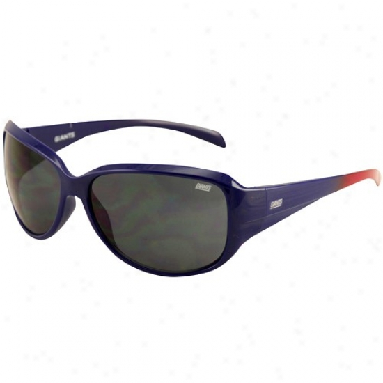 New York Giants Ladies Royal Blue-red Fde Velocity Sunglasses