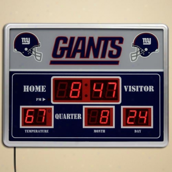 New York Giants Led Scoreboard Clock
