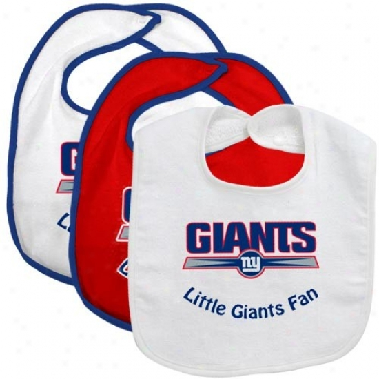 New York Giants Little Giants Fan 3 Bundle Bib Set