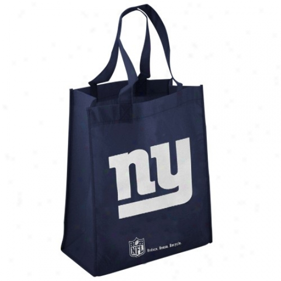 New York Giaants Navy Blue Reusable Tote Bag