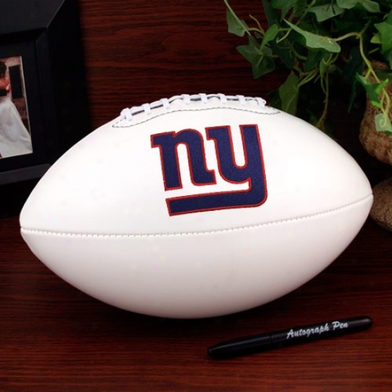 New York Giants Authoritative Quite Size Autograph Football
