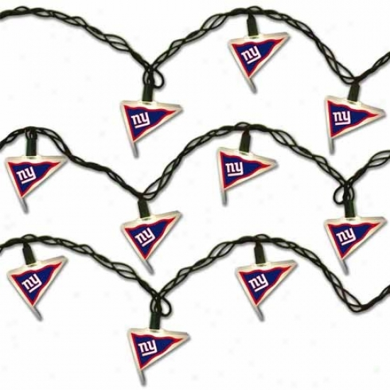 New York Giants Pennant Party Lights