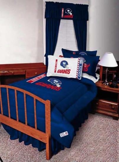 New York Giants Queen Size Bed Skirt