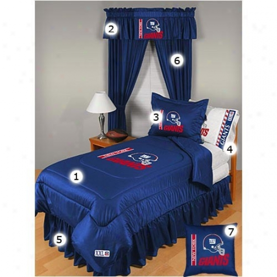 New York Giants Queen Size Locker Room Besroom Set