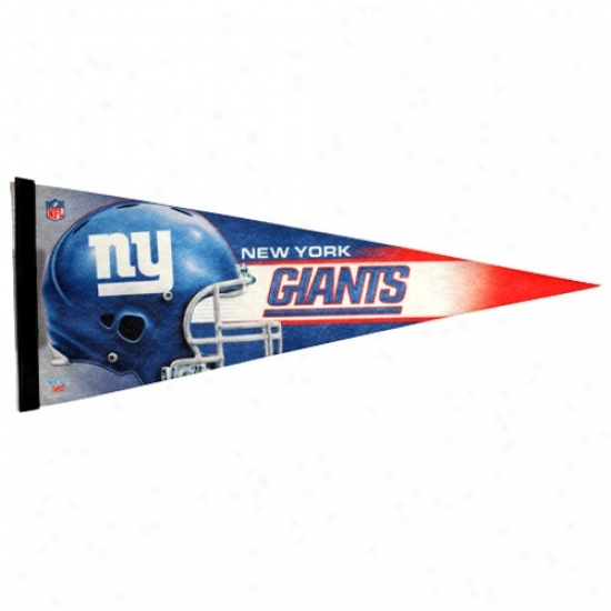 New Yor Giants Royai Blue 12'' X 30'' Premium Felt Pennant