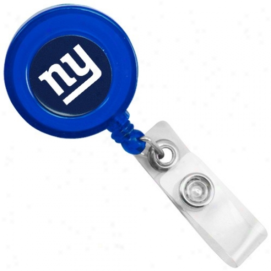 New York Giants Royal Blue Badge Reel