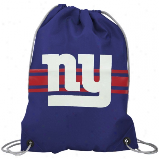 Unaccustomed York Giants Royal Blue Drawstring Backpack