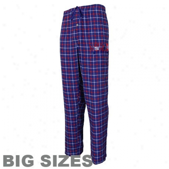 New York Giants Royal Blue Gameplay Big Sizes Flannel Pants