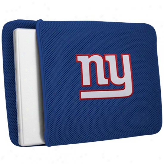 New York Giants Royal Blue Mesh Laptop Cover