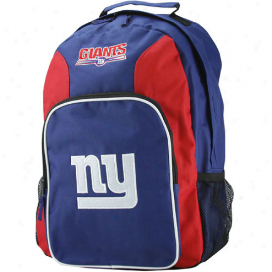 Novel York Giants Royal Blue-red Southpaw Backpack