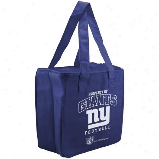 New York Giants Royal Blue Reusable Insulated Tote Bag
