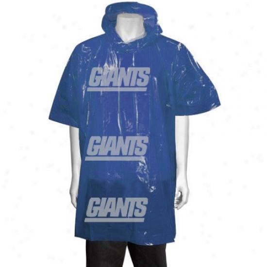 New York Giants Royal Blue Short Sleeve Poncho