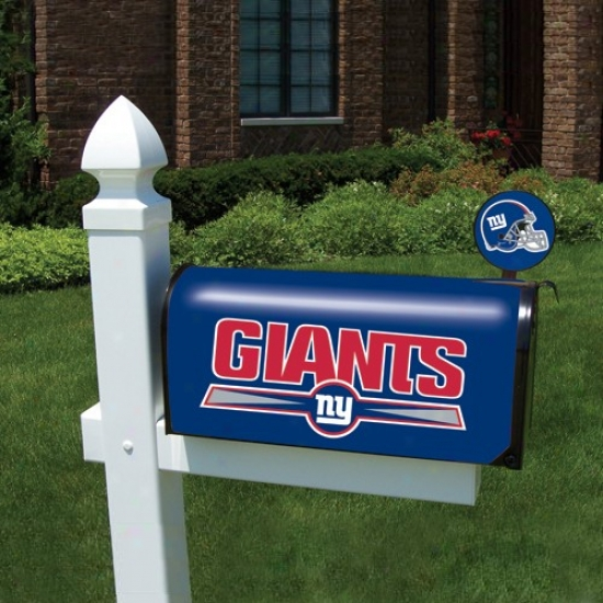 New York Giants Magnificent Blue Team Logo Mai1box Cover