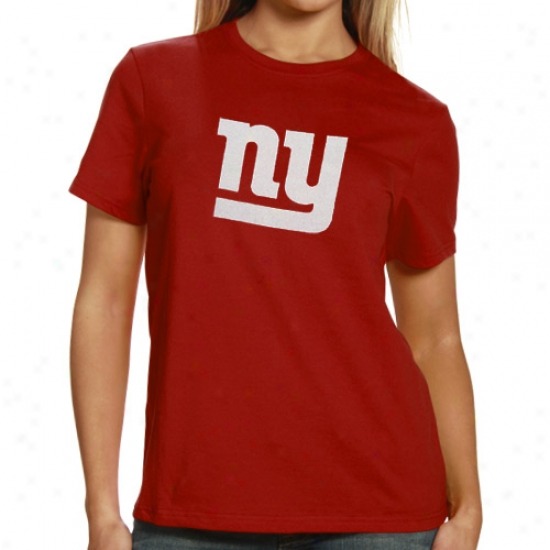 New York Giants Shirt : Reebok New York Giants Ladies Red Logo Premier Shirt