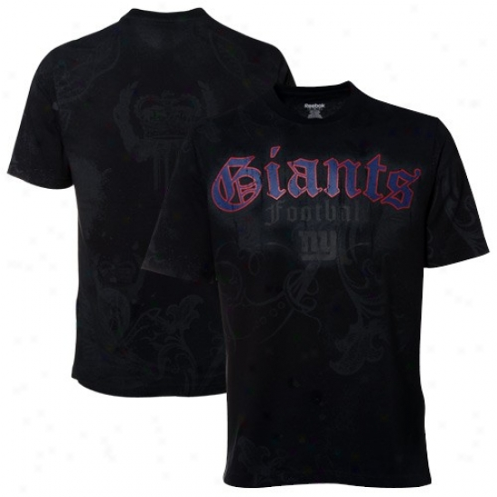 New York Giants Shorts : Reebok New York Giants Dark All-over P5emium Shirts
