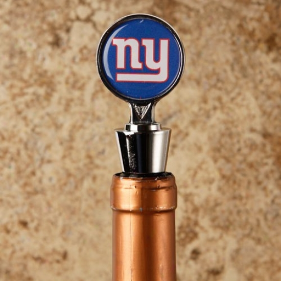 New York Giants Silver Wine Stopper