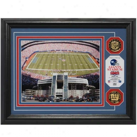 New York Giants Stadium 24kt Gold Photomint