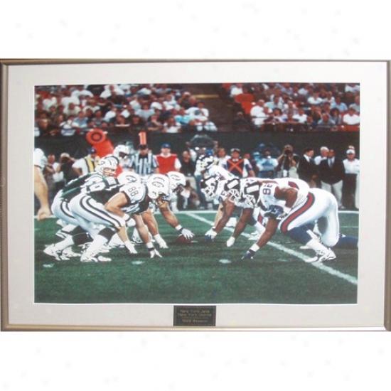 New York Giants Stadium Jets Vs Giants 1998 Season Line Of Scrimmage Photograph