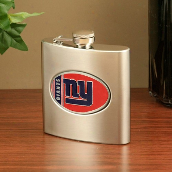 New York Giants Stainless Steel Flask