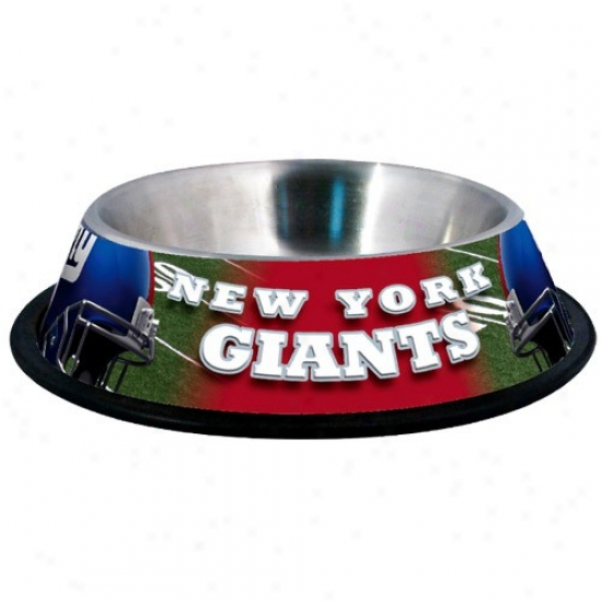 New York Giants Stainless Steel Pet Bowl