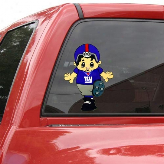 New York Giants Team Mascot 12'' Window Cling