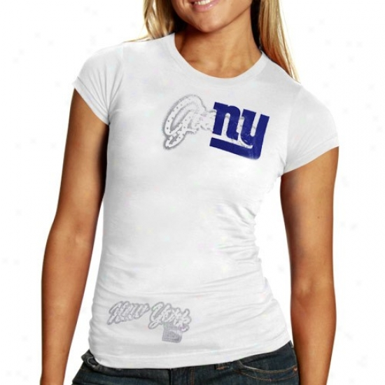 New York Giants Tees : Reebok New York Giants Ladies Happy Polka Baby Puppet Premium Tees