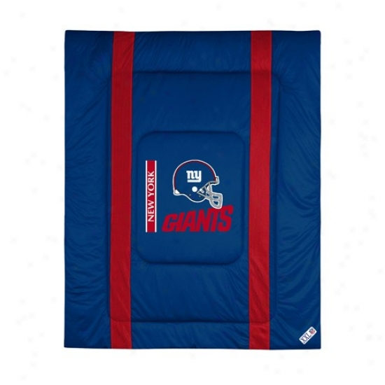 New York Giants Twin Size Sideline Comforter