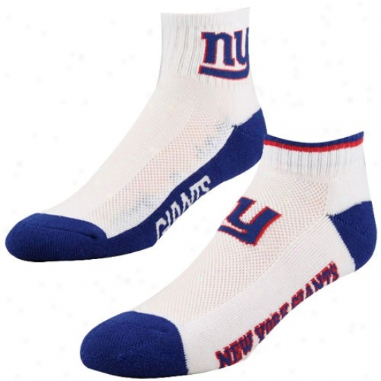New York Giants White-royal Blue Two-pack Socks