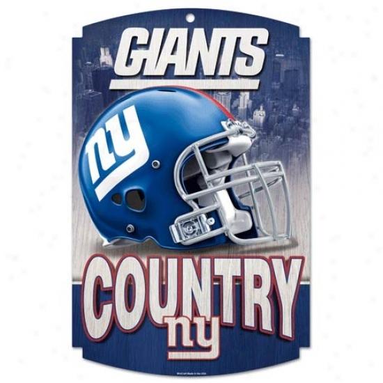 New York Giants Wood Sign
