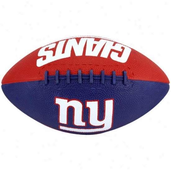 New York Giants Youth Magnificent Blue-red Hail Mary Rubb3r Football