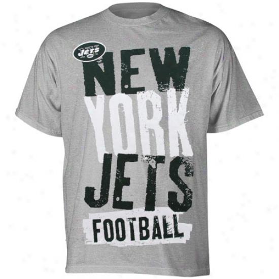 ... New York Jet T Shirt Reebok New York Jet Youth Ash Team Pride T Shirt  ... f34091e96