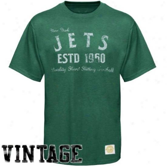 New York Jet Tshirts : Reebok New York Jet Gteen Dillinger Tri-blend Premium Tshirts