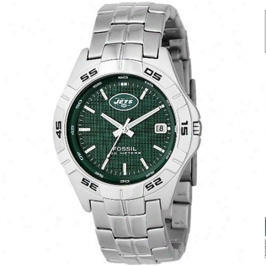 New York Jet Watches : Fossil New York Jet Mem's Stainless Steel Analog 3 Hand Date Watches