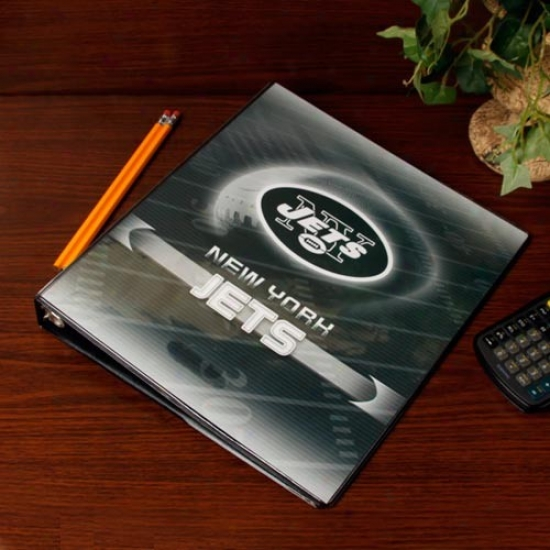 New York Jets 1'' 3-ring Team Logo Binder