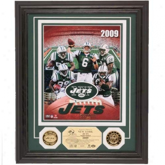 New York Jets 2009 Team Force 24kt Gold Photomint