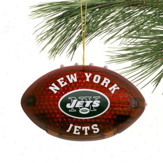 New York Jets 4'' Acrylic Light-up Foogball Ornament
