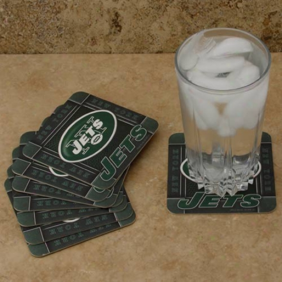 New York Jets 8-pack Absorbent Paperkraft Coasters