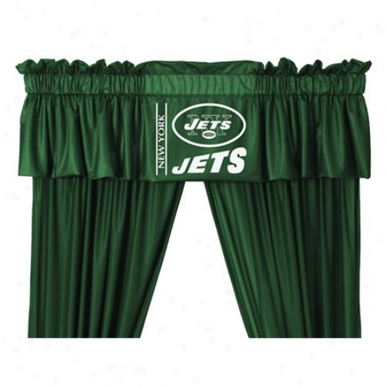 """new York Jets 88""""x14"""" Window Valance"""
